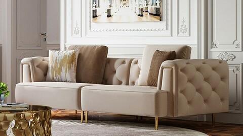 Prague luxury velvet sofa