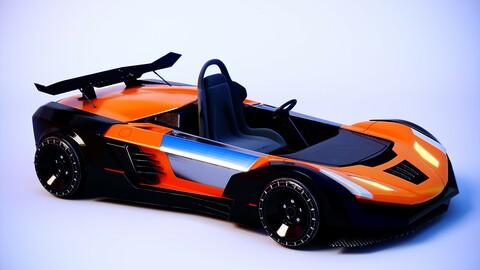 Go-kart racing car remote control car four-wheel-drive toy car sports car