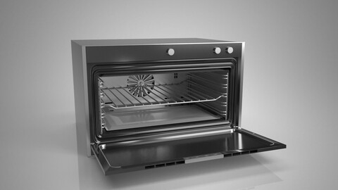 Built-in oven with microwave oven in kitchen