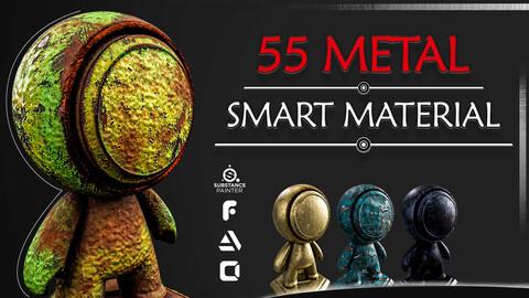55 Pro Metal Smart Material - Adobe Substance 3d Painter