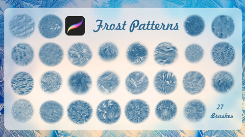 Frosty brushes for PROCREATE