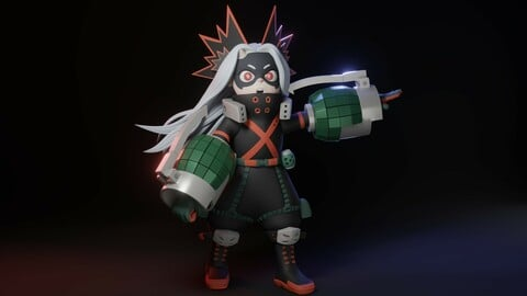 Eri-chan with the Bakugou costume for 3D Print