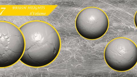 Stone Cracks Brushes 8 Volume