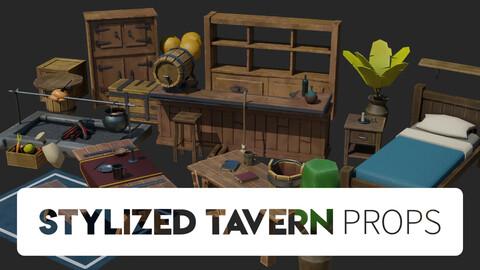 Stylized Tavern Props