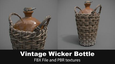 Vintage Wicker Bottle