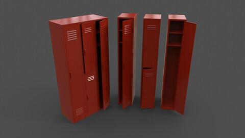 PBR School Gym Locker 04 - Red