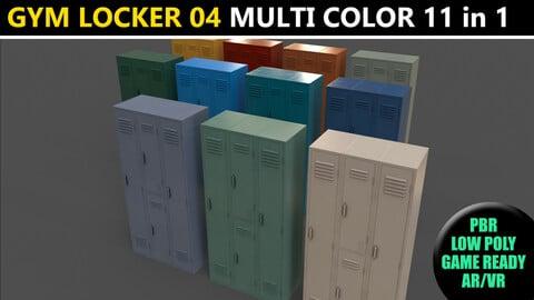 PBR School Gym Locker 04 - Multi color Pack