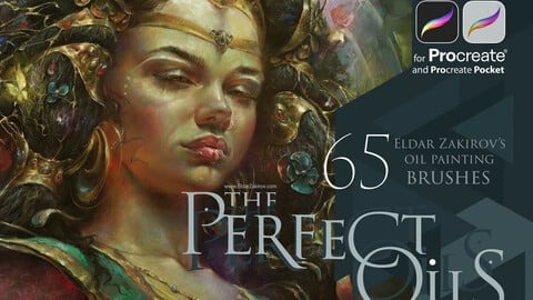 The Perfect Oils for Procreate: 65 oil painting realistic brushes. Use FIRSTMONTH30 for 30% off!