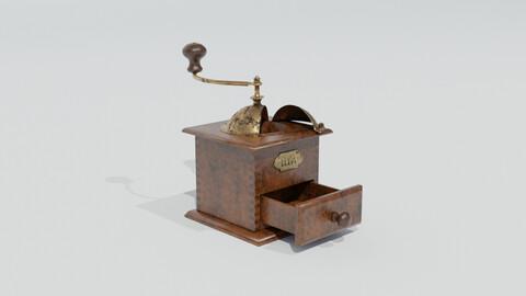 Rigged vintage coffe grinder