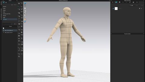 Realistic avatar-mannequin for Clo3D - Male Size 50 EU