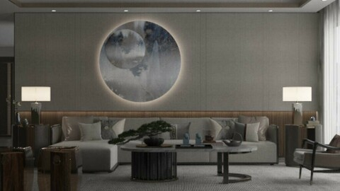 High-end atmosphere classical Chinese meeting room eight