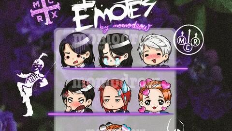 MCR (Gerard Way) - 7 Twitch emotes pack
