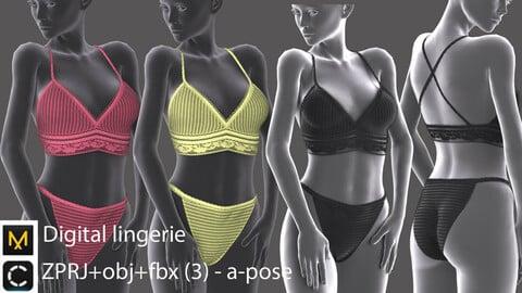 Digital lingerie set