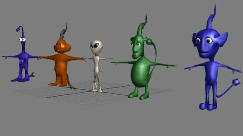 3d Aliens Low or High poly models Service