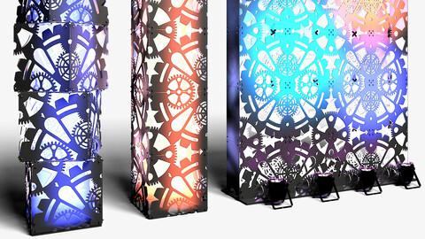 Stage Decor 01 - Modular Wall Column