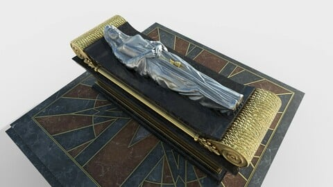 Queen Tomb with silver statue