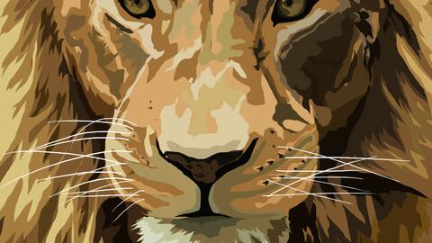 Lion portrait vector art