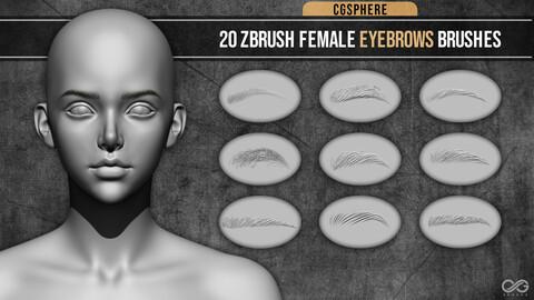 Female Eyebrows VDM Brushes