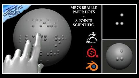MR78 Braille Paper Dots – 8 Points – Scientific