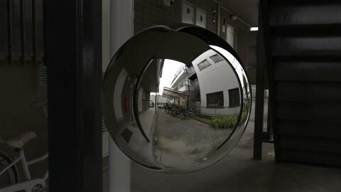 Under Apartment Stairs 360 HDRI