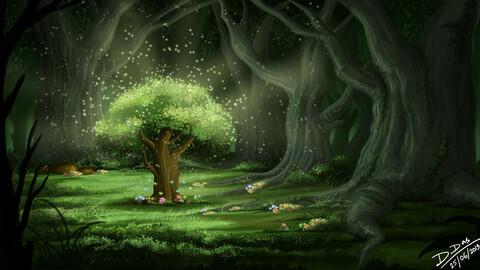 Deep inside the forest (Digital Art)