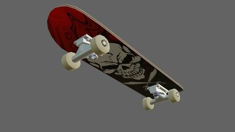 Skate - Skateboard Low-poly 3D model