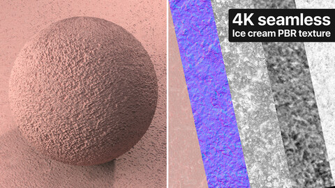 Pink ice cream Photogrammetry based Texture
