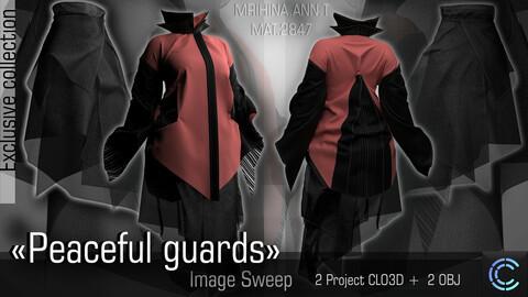 Peaceful guards. Image Sweep. Clo3d, Marvelous Designer.