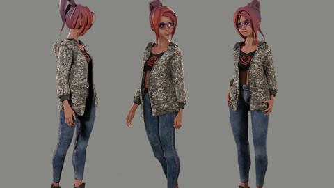Veronica Stylized Digital Actor 3D model
