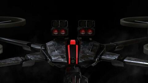 Gameready PBR Sci-Fi Assault Drone