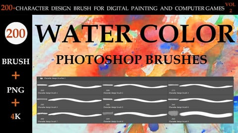 200+CHARACTER DESIGN BRUSH FOR DIGITAL PAINTING AND COMPUTER GAMES  VOL:2