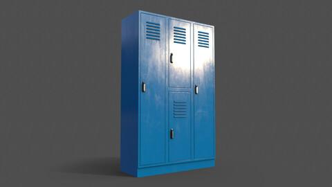 PBR School Gym Locker 05 - Blue Light