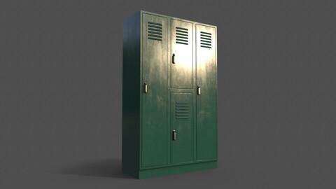 PBR School Gym Locker 05 - Green Dark