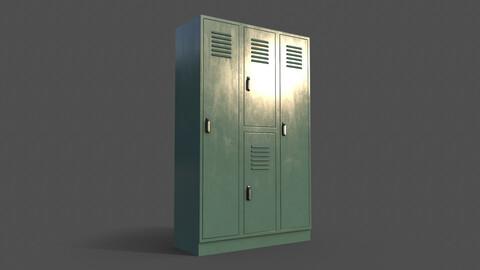 PBR School Gym Locker 05 - Green Light