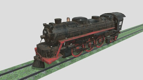 Steam Engine Train Wagon