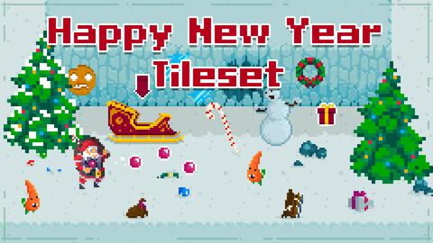 HappyNewYear PixelArt Asset