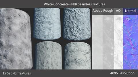 White Concrete - Pbr Seamless Textures