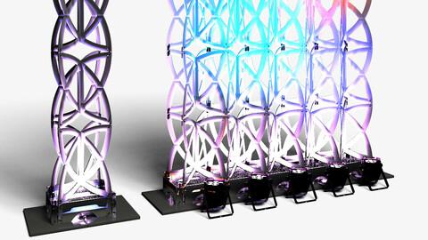 Stage Decor 22 - Modular Wall Column