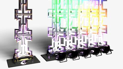 Stage Decor 26 - Modular Wall Column