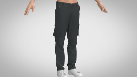 Basic Cargo Pants, Marvelous Designer, Clo3D