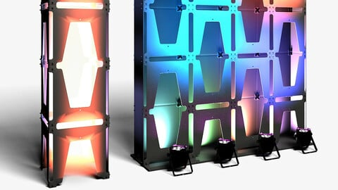 Stage Decor 30 - Modular Wall Column