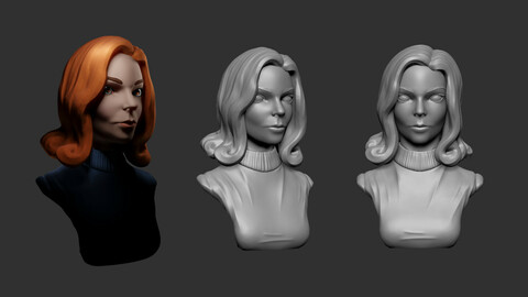 Anya Taylor -Joy Stylized bust ( The Queen's Gambit ) 3D print