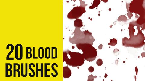 Blood Brushes Splatter for Photoshop