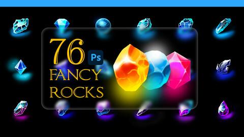 fancy rocks pack-76 original rocks in 2 modes