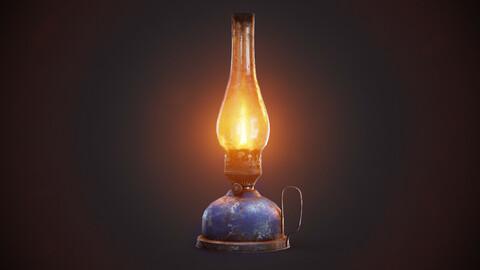 Pack of 9 colors painted vintage kerosene oil lamp