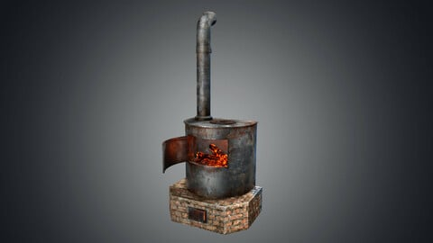 Heating iron oiled fire stove