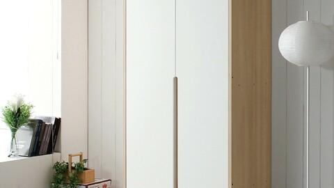 Milk Wardrobe/ Wardrobe Set