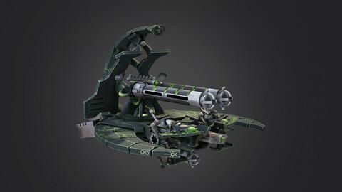 necron sci-fi ship tank annihilation barge