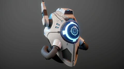 sci fi space concept warrior helmet