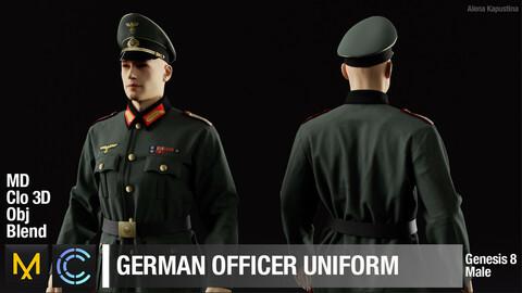 German officer's uniform / Marvelous Designer / Clo 3D project / Blender project